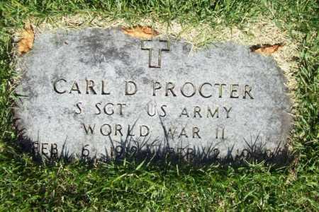 PROCTER (VETERAN WWII), CARL D. - Benton County, Arkansas | CARL D. PROCTER (VETERAN WWII) - Arkansas Gravestone Photos