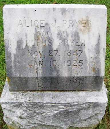 PRYER, ALICE J. - Benton County, Arkansas | ALICE J. PRYER - Arkansas Gravestone Photos