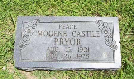 CASTILE PRYOR, INEZ IMOGENE - Benton County, Arkansas | INEZ IMOGENE CASTILE PRYOR - Arkansas Gravestone Photos