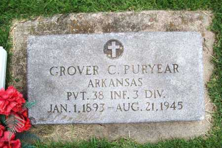 PURYEAR (VETERAN), GROVER C. - Benton County, Arkansas | GROVER C. PURYEAR (VETERAN) - Arkansas Gravestone Photos