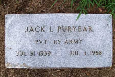 PURYEAR (VETERAN), JACK L - Benton County, Arkansas | JACK L PURYEAR (VETERAN) - Arkansas Gravestone Photos