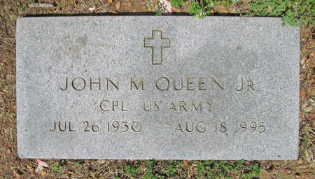 QUEEN, JR (VETERAN), JOHN M - Benton County, Arkansas | JOHN M QUEEN, JR (VETERAN) - Arkansas Gravestone Photos