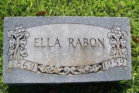RABON, ELLA - Benton County, Arkansas | ELLA RABON - Arkansas Gravestone Photos