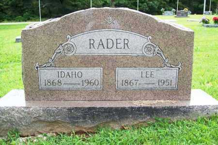 RADER, LEE - Benton County, Arkansas | LEE RADER - Arkansas Gravestone Photos
