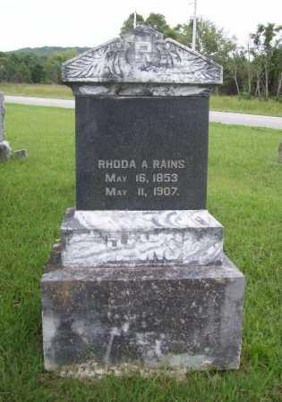 RAINS, RHODA A. - Benton County, Arkansas | RHODA A. RAINS - Arkansas Gravestone Photos
