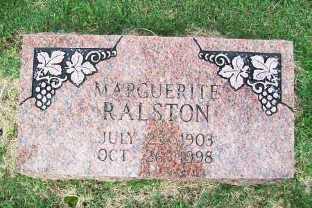 RALSTON, MARGUERITE - Benton County, Arkansas | MARGUERITE RALSTON - Arkansas Gravestone Photos