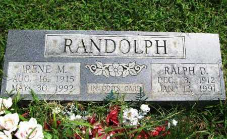 RANDOLPH, IRENE M. - Benton County, Arkansas | IRENE M. RANDOLPH - Arkansas Gravestone Photos