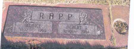 RAPP, EUNICE - Benton County, Arkansas | EUNICE RAPP - Arkansas Gravestone Photos