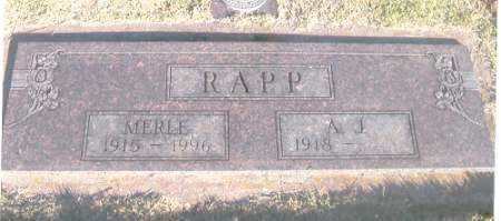 RAPP, MERLE - Benton County, Arkansas | MERLE RAPP - Arkansas Gravestone Photos