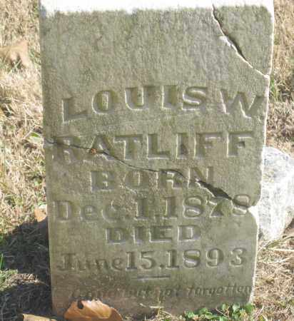 RATLIFF, LOUIS W. - Benton County, Arkansas | LOUIS W. RATLIFF - Arkansas Gravestone Photos