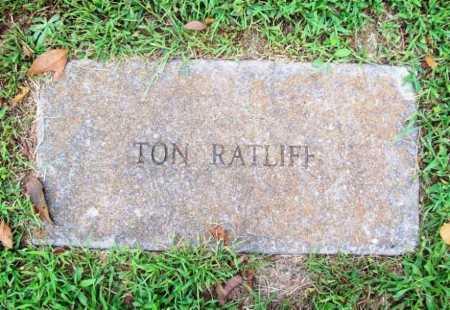 RATLIFF, TON - Benton County, Arkansas | TON RATLIFF - Arkansas Gravestone Photos