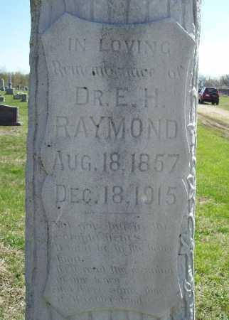 RAYMOND, DR. EDWIN H. (CLOSEUP) - Benton County, Arkansas | DR. EDWIN H. (CLOSEUP) RAYMOND - Arkansas Gravestone Photos