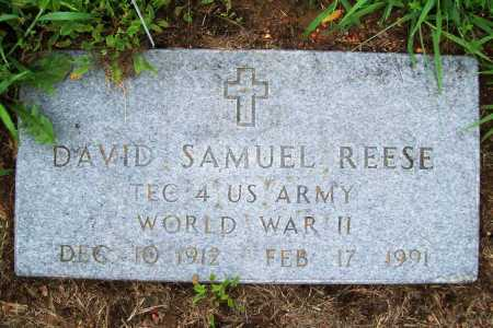 REESE (VETERAN WWII), DAVID SAMUEL - Benton County, Arkansas | DAVID SAMUEL REESE (VETERAN WWII) - Arkansas Gravestone Photos