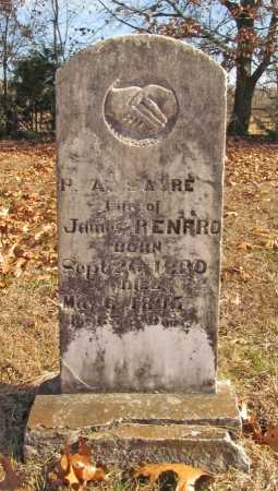 RENFRO, P A - Benton County, Arkansas | P A RENFRO - Arkansas Gravestone Photos
