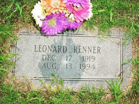 RENNER, LEONARD - Benton County, Arkansas | LEONARD RENNER - Arkansas Gravestone Photos