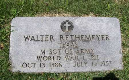 RETHEMEYER (VETERAN WWI), WALTER - Benton County, Arkansas | WALTER RETHEMEYER (VETERAN WWI) - Arkansas Gravestone Photos