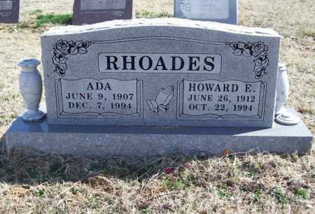 RHOADES, HOWARD E. - Benton County, Arkansas | HOWARD E. RHOADES - Arkansas Gravestone Photos