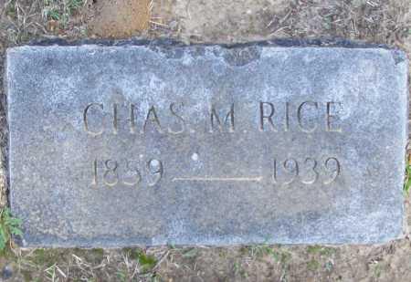RICE, CHARLES M. - Benton County, Arkansas | CHARLES M. RICE - Arkansas Gravestone Photos