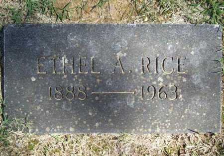 RICE, ETHEL A. - Benton County, Arkansas | ETHEL A. RICE - Arkansas Gravestone Photos