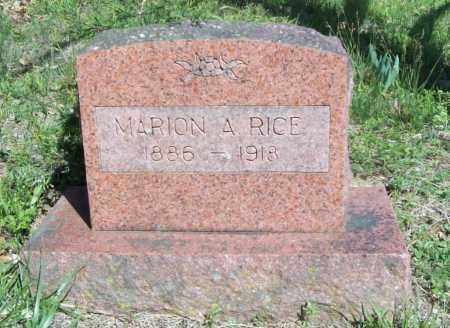 RICE, MARION A. - Benton County, Arkansas | MARION A. RICE - Arkansas Gravestone Photos