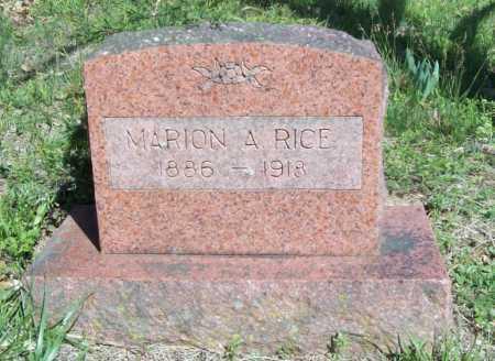 RICE, MARION A. - Benton County, Arkansas | MARION A. RICE - Arkansas Gravestone Photos