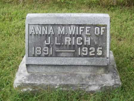 RICH, ANNA M. - Benton County, Arkansas | ANNA M. RICH - Arkansas Gravestone Photos