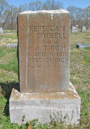 COTRELL RICH, REBECCA E - Benton County, Arkansas | REBECCA E COTRELL RICH - Arkansas Gravestone Photos