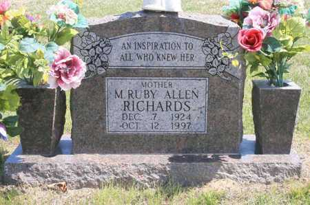 RICHARDS, M. RUBY - Benton County, Arkansas | M. RUBY RICHARDS - Arkansas Gravestone Photos