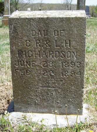 RICHARDSON, ORA E. - Benton County, Arkansas | ORA E. RICHARDSON - Arkansas Gravestone Photos