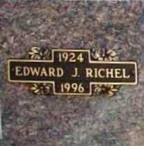 RICHEL, EDWARD J. - Benton County, Arkansas | EDWARD J. RICHEL - Arkansas Gravestone Photos