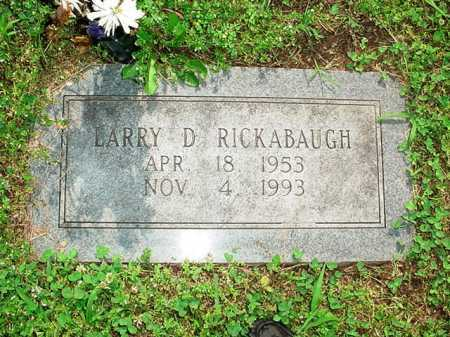 RICKABAUGH, LARRY D - Benton County, Arkansas | LARRY D RICKABAUGH - Arkansas Gravestone Photos