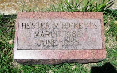 RICKETTS, HESTER M. - Benton County, Arkansas | HESTER M. RICKETTS - Arkansas Gravestone Photos