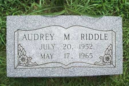 RIDDLE, AUDREY MARIE - Benton County, Arkansas | AUDREY MARIE RIDDLE - Arkansas Gravestone Photos