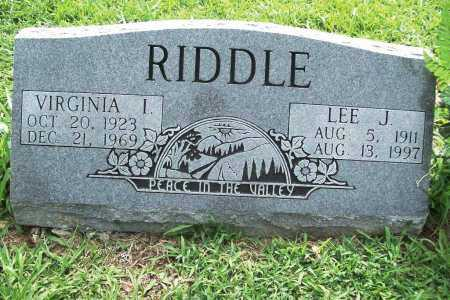RIDDLE, VIRGINIA I. - Benton County, Arkansas | VIRGINIA I. RIDDLE - Arkansas Gravestone Photos