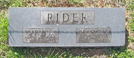 RIDER, SARAH E - Benton County, Arkansas | SARAH E RIDER - Arkansas Gravestone Photos