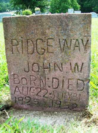 RIDGEWAY, JOHN W. - Benton County, Arkansas | JOHN W. RIDGEWAY - Arkansas Gravestone Photos