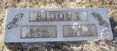 RIDOUT, WILLIAM ALFRED - Benton County, Arkansas | WILLIAM ALFRED RIDOUT - Arkansas Gravestone Photos