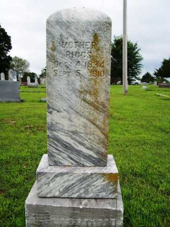 RIGGS, MOTHER - Benton County, Arkansas | MOTHER RIGGS - Arkansas Gravestone Photos