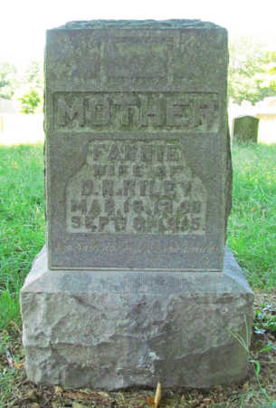 RILEY, FANNIE - Benton County, Arkansas | FANNIE RILEY - Arkansas Gravestone Photos