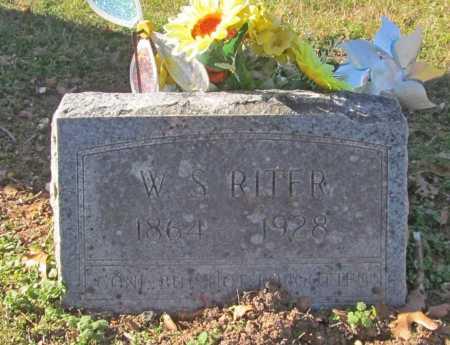 RITER, W S - Benton County, Arkansas   W S RITER - Arkansas Gravestone Photos
