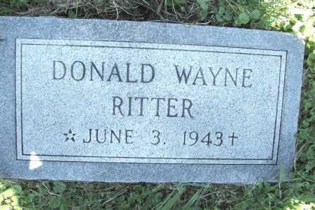 RITTER, DONALD WAYNE - Benton County, Arkansas | DONALD WAYNE RITTER - Arkansas Gravestone Photos