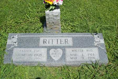 RITTER, ESTHER FAY - Benton County, Arkansas | ESTHER FAY RITTER - Arkansas Gravestone Photos