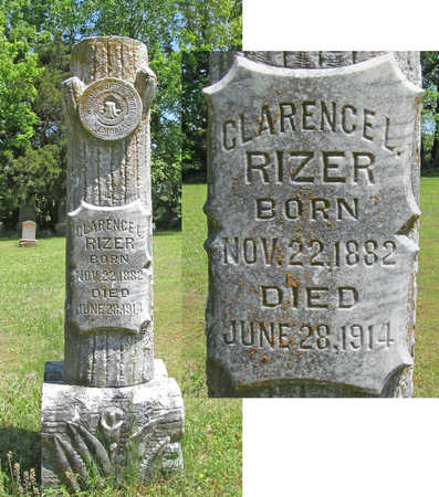 RIZER, CLARENCE L - Benton County, Arkansas | CLARENCE L RIZER - Arkansas Gravestone Photos