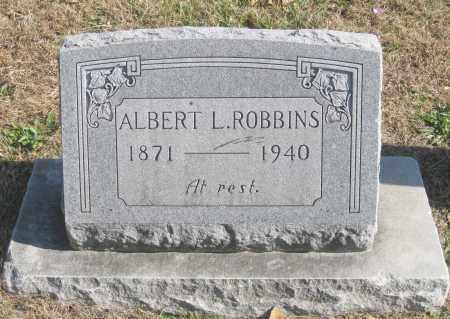 ROBBINS, ALBERT L. - Benton County, Arkansas   ALBERT L. ROBBINS - Arkansas Gravestone Photos