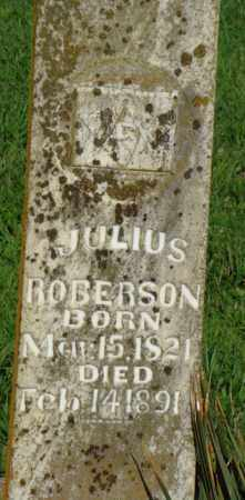 ROBERSON, JULIUS - Benton County, Arkansas | JULIUS ROBERSON - Arkansas Gravestone Photos