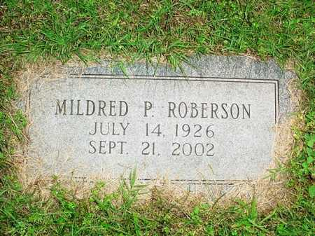 ROBERSON, MILDRED P. - Benton County, Arkansas | MILDRED P. ROBERSON - Arkansas Gravestone Photos