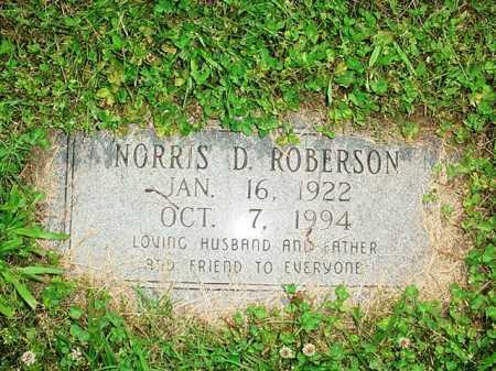 ROBERSON, NORRIS D. - Benton County, Arkansas | NORRIS D. ROBERSON - Arkansas Gravestone Photos