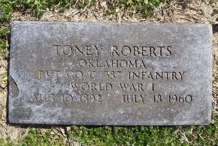 ROBERTS (VETERAN WWI), TONEY W - Benton County, Arkansas | TONEY W ROBERTS (VETERAN WWI) - Arkansas Gravestone Photos