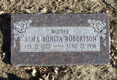 ROBERTSON, ALMA BONITA - Benton County, Arkansas | ALMA BONITA ROBERTSON - Arkansas Gravestone Photos
