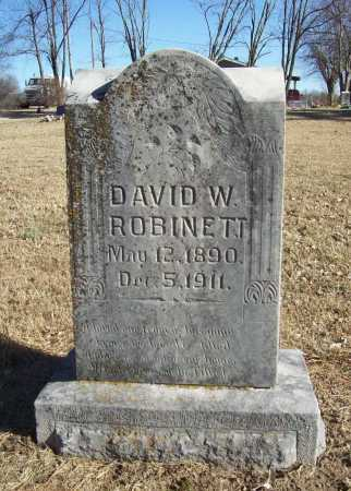 ROBINETT, DAVID W. - Benton County, Arkansas | DAVID W. ROBINETT - Arkansas Gravestone Photos